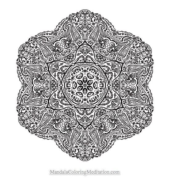 Coloriage De Mandala Difficile Gratuit.66 Dessins De Coloriage Mandalas Difficile A Imprimer Sur Laguerche