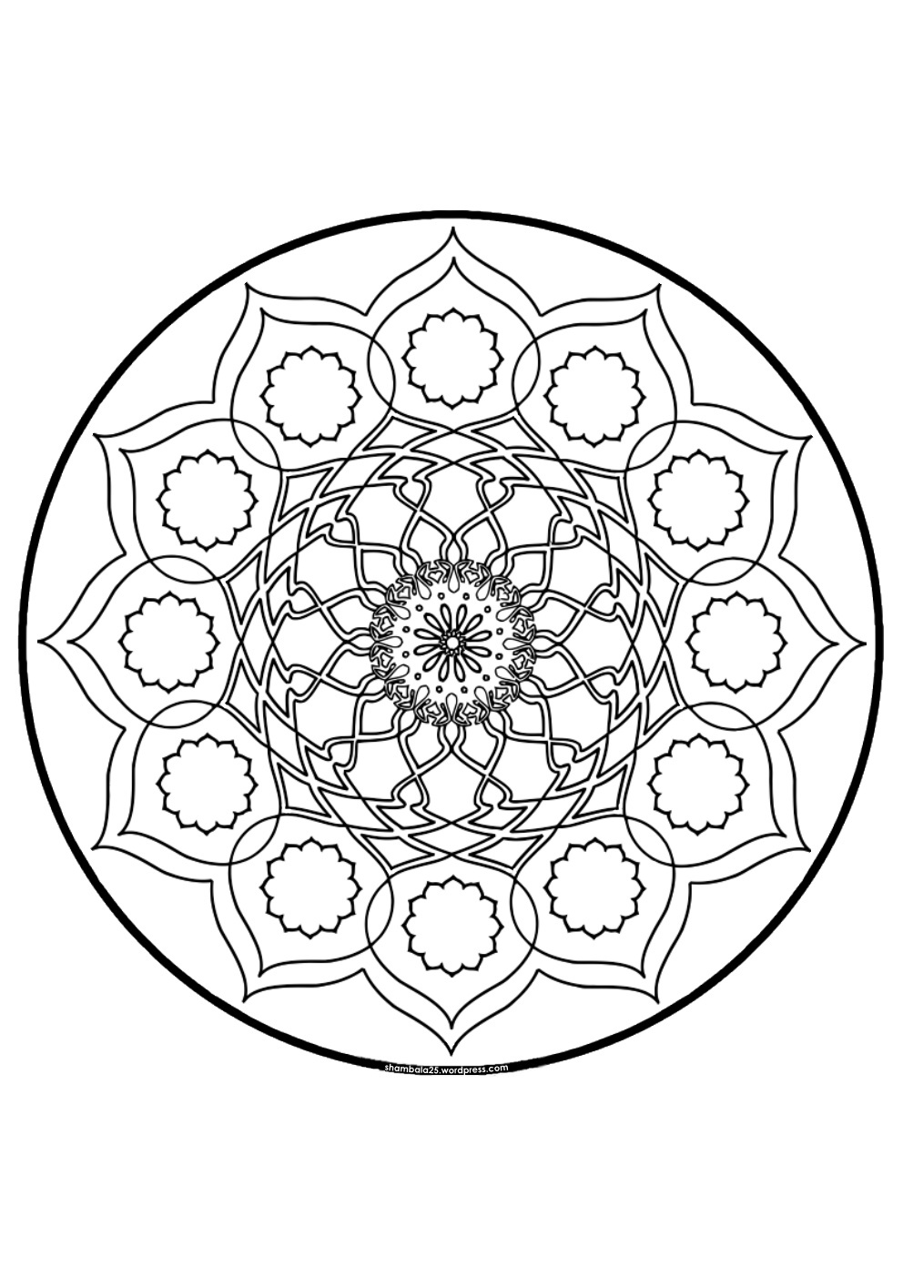 66 dessins de coloriage mandalas difficile imprimer sur. Black Bedroom Furniture Sets. Home Design Ideas