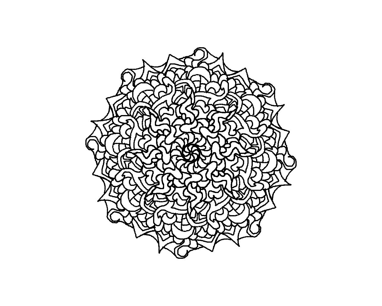 66 dessins de coloriage mandalas difficile imprimer sur page 2