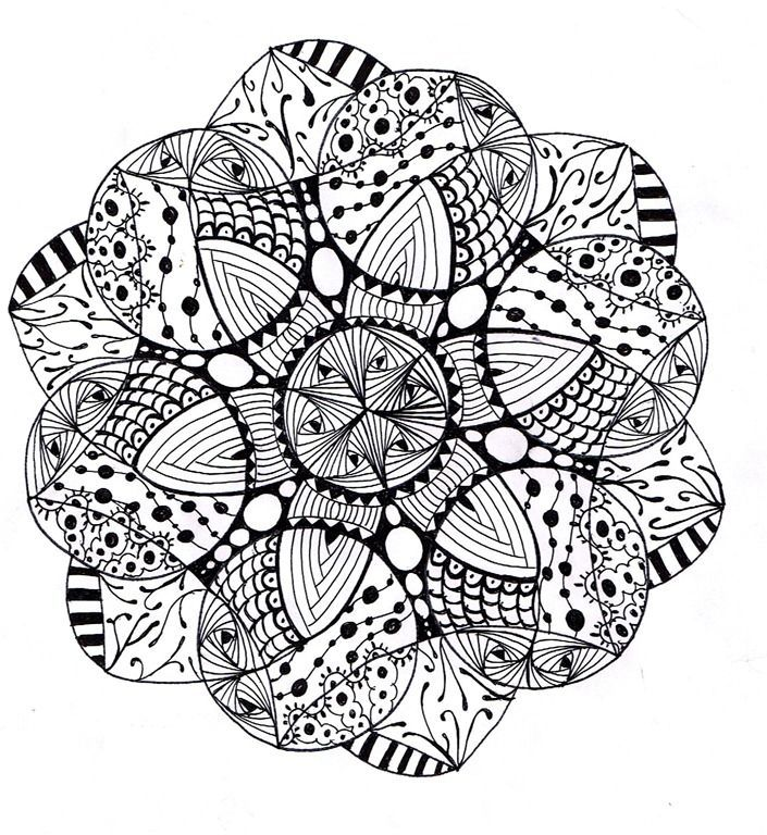 advanced mandala coloring pages printable - photo#15