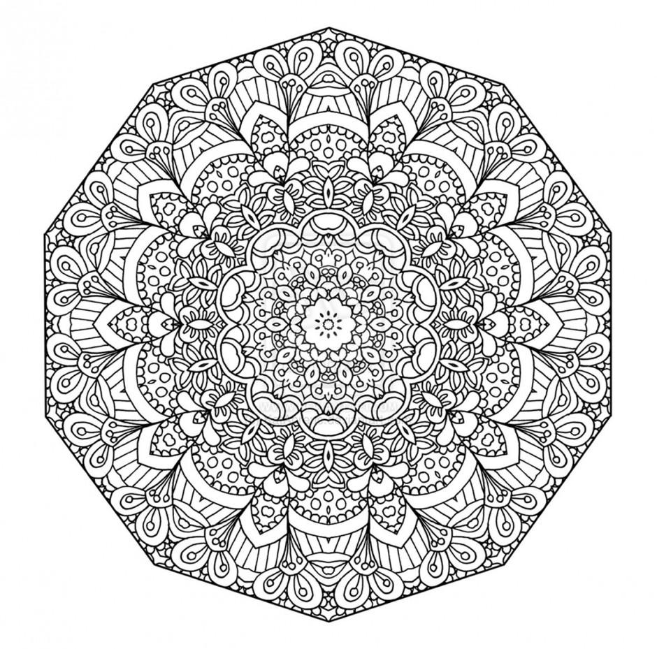 66 dessins de coloriage mandalas difficile imprimer sur - Grand mandala ...