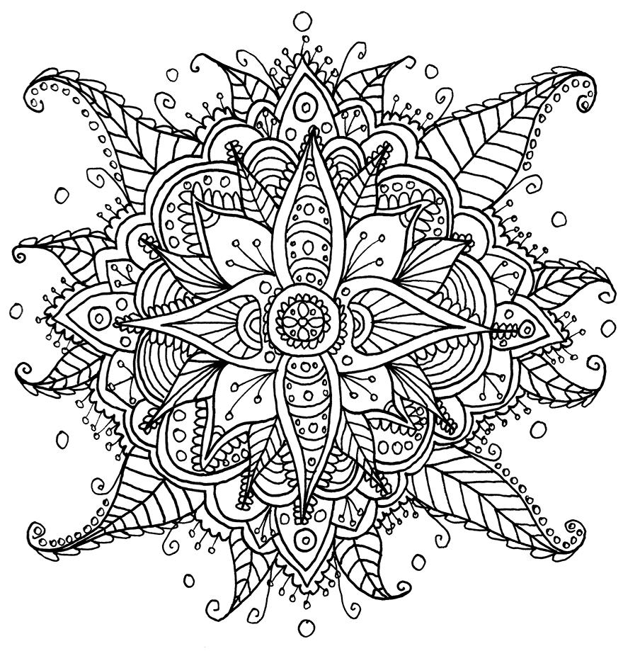 15 coloriage de fleurs mandala - Coloriage des fleurs ...