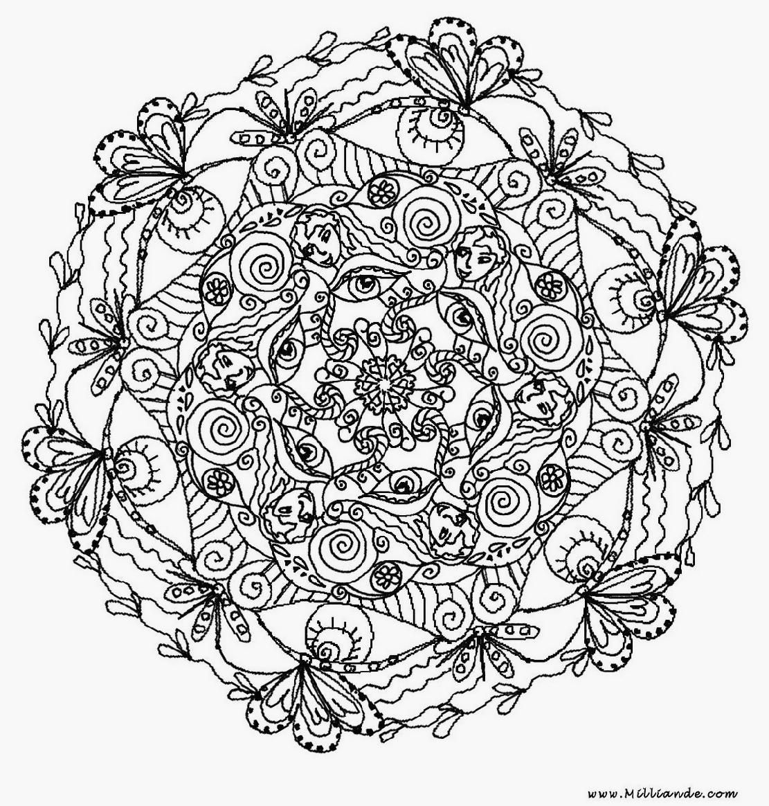 57 dessins de coloriage mandalas fleurs imprimer sur page 2 - Coloriage fleur mandala ...