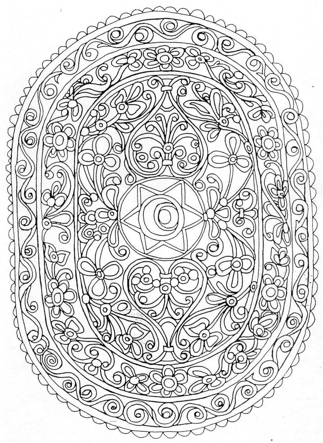 Peace sign mandala coloring pages - Dessins de mandala ...