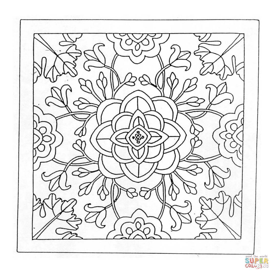 Kleurplaat Van Volwasen Dieren 57 Dessins De Coloriage Mandalas Fleurs 224 Imprimer Sur