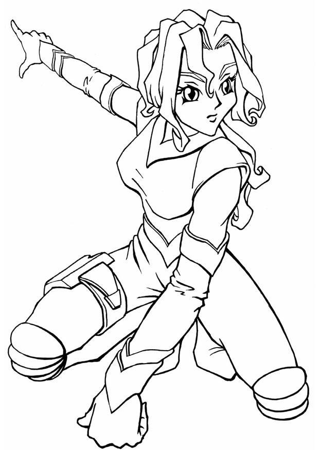 Coloriage manga gratuit - dessin a imprimer #10