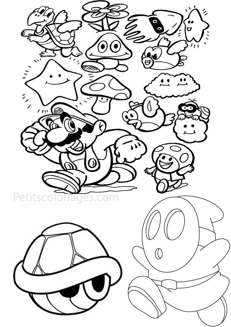 138 dessins de coloriage mario bros imprimer sur page 6 - Coloriage de mario bros ...