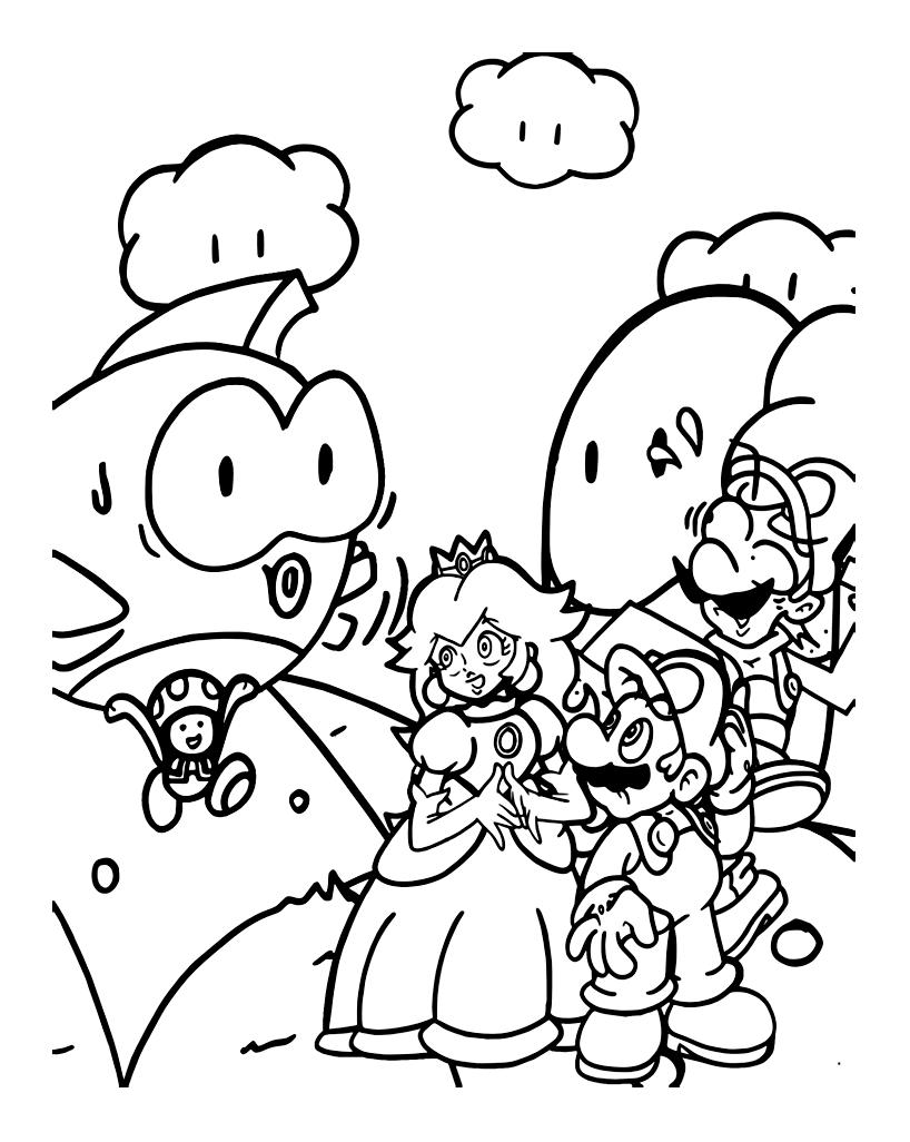 138 dessins de coloriage mario bros imprimer sur page 14 - Image mario a imprimer ...