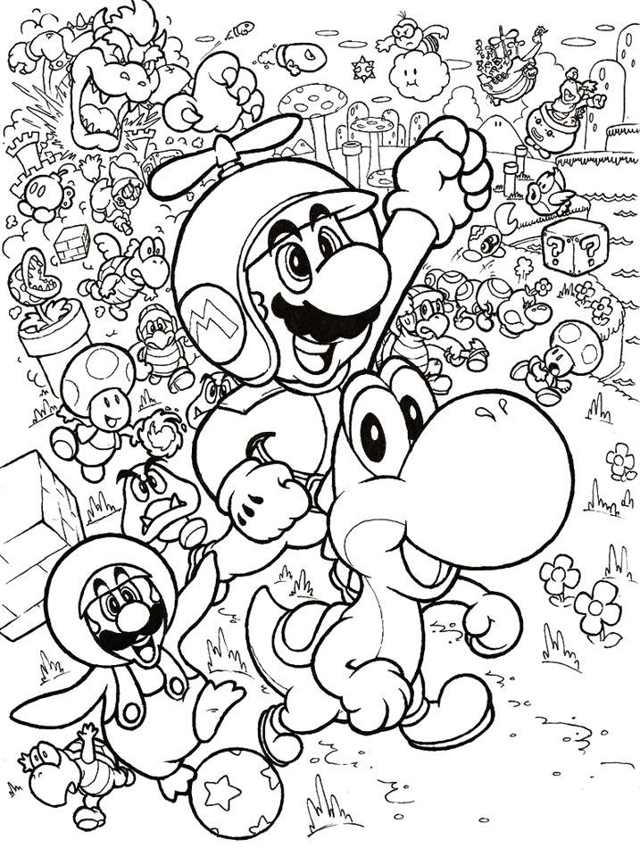 138 dessins de coloriage mario bros imprimer sur page 15 - Coloriage mario bross ...