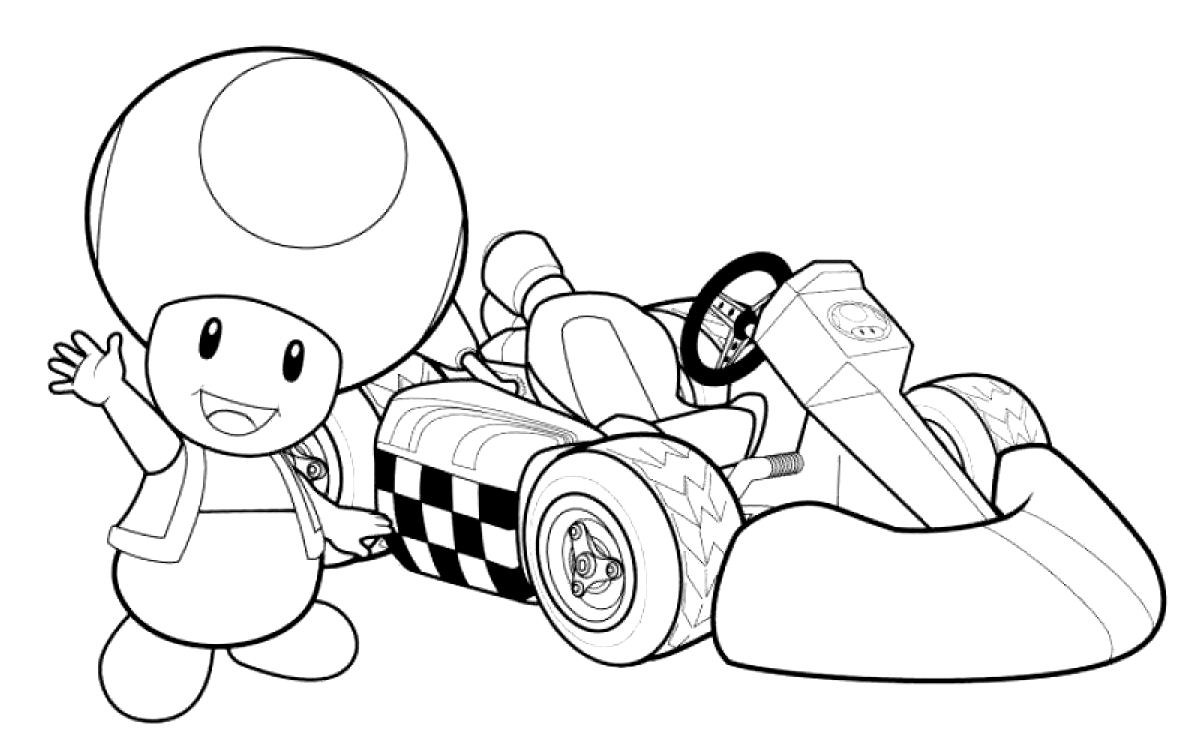 22 dessins de coloriage mario kart imprimer sur page 1. Black Bedroom Furniture Sets. Home Design Ideas