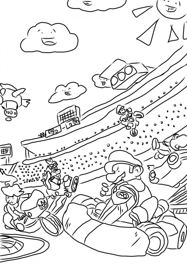 coloriage mario kart gratuit dessin a imprimer 96 - Coloriage Mario Imprimer