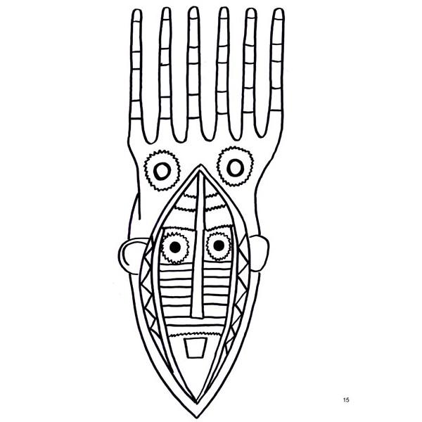 27 dessins de coloriage masque afrique imprimer sur - Dessin de masque africain ...