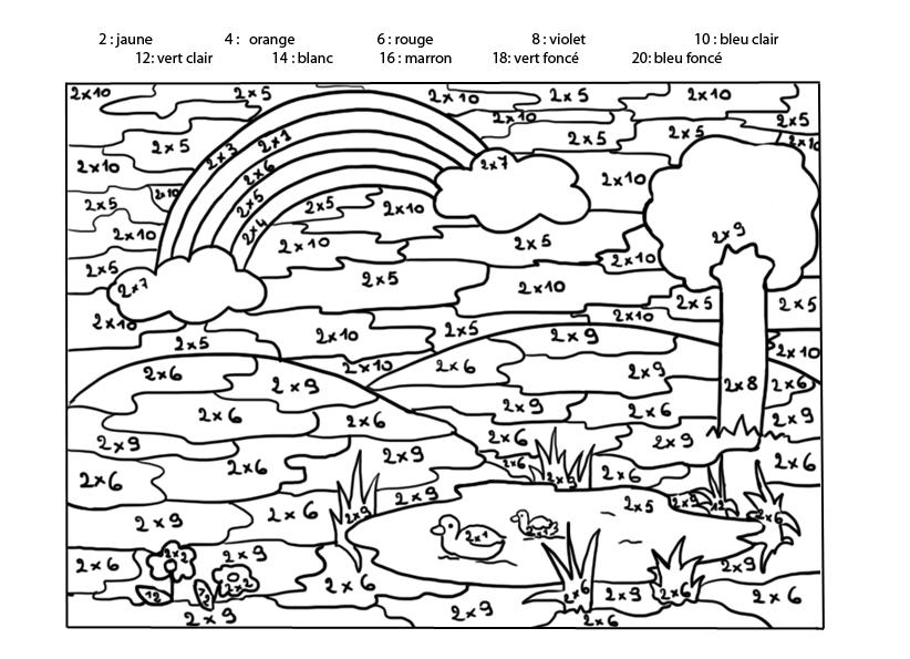 Connu 19 dessins de coloriage mathématique à imprimer sur LaGuerche.com  PO94