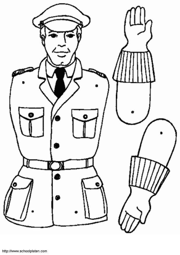 97 dessins de coloriage m tiers imprimer sur laguerche - Dessin de police ...