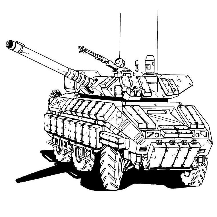 dessin 14649 coloriage militaire