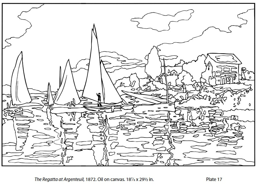monet coloring pages - monet coloring sheets coloring pages