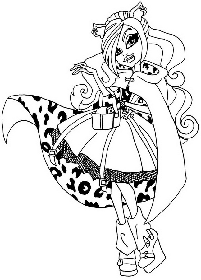 154 dessins de coloriage monster high imprimer sur page 1 - Comment dessiner une monster high ...