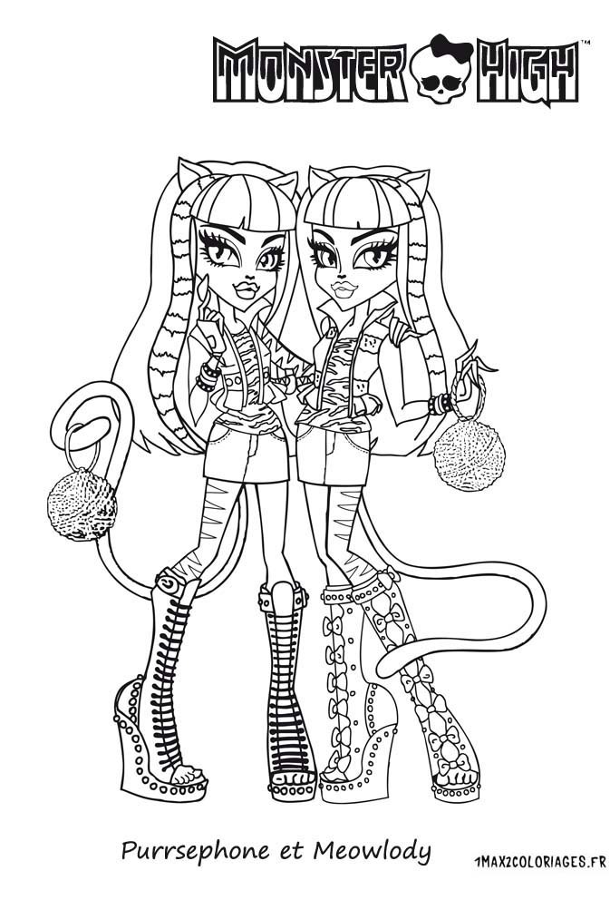 154 dessins de coloriage monster high imprimer sur page 11 - Coloriage a imprimer monster high ...