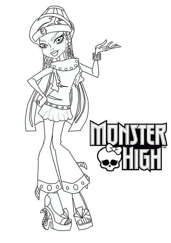 154 dessins de coloriage monster high imprimer sur - Dessins de monster high ...