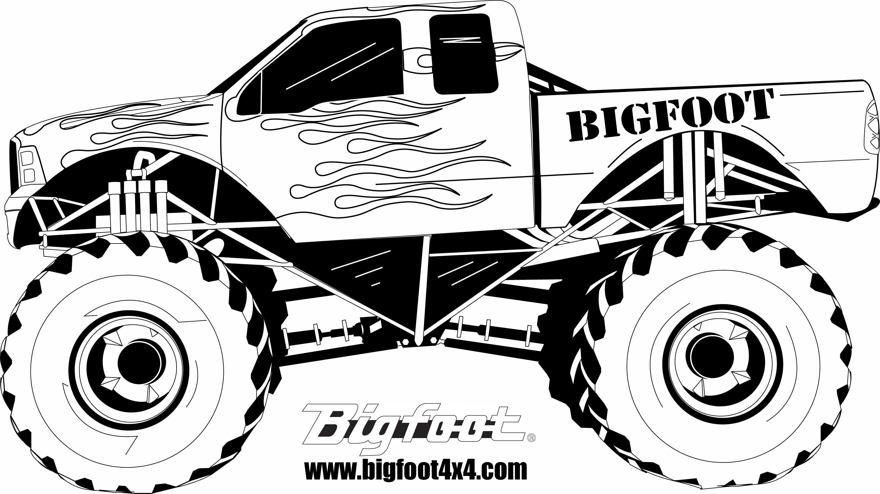 22 dessins de coloriage monster truck imprimer sur page 1. Black Bedroom Furniture Sets. Home Design Ideas
