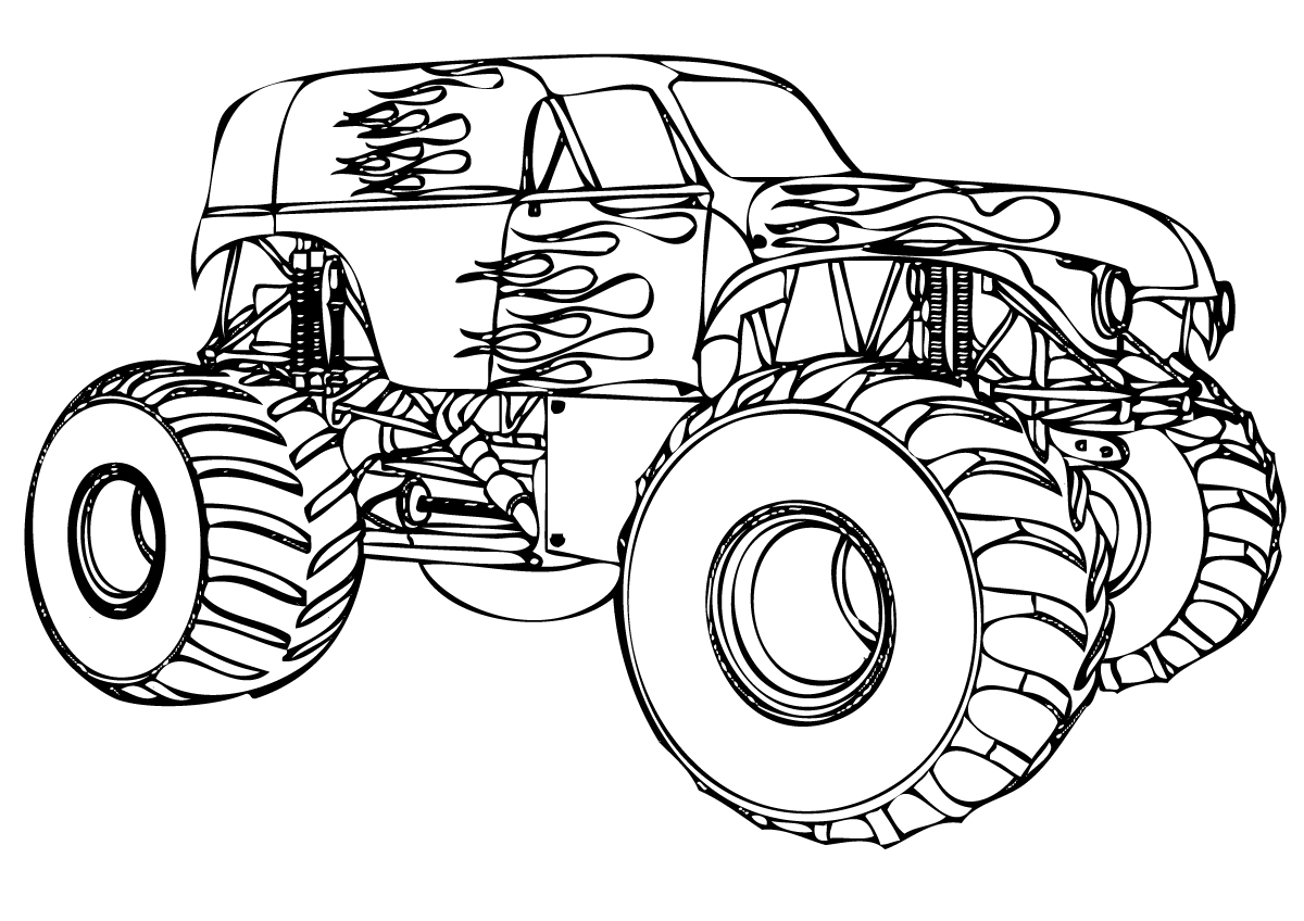 22 dessins de coloriage monster truck imprimer sur page 1 - Dessin monster ...