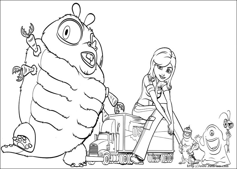 Image #25569 - Coloriage monstre contre alien gratuit
