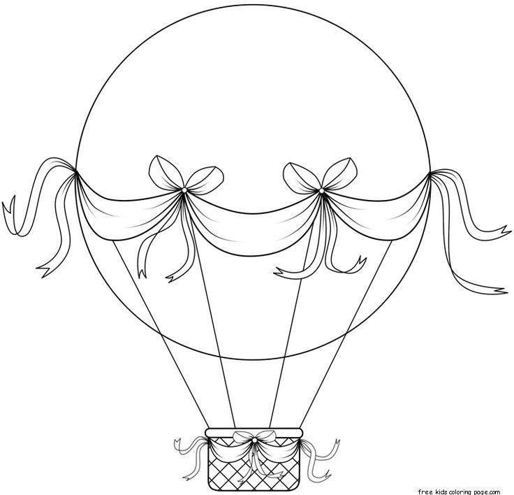 montgolfiere a imprimer