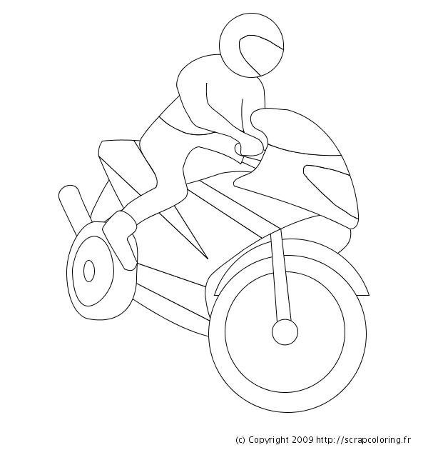 S lection de dessins de coloriage moto imprimer sur page 1 - Dessin moto enfant ...