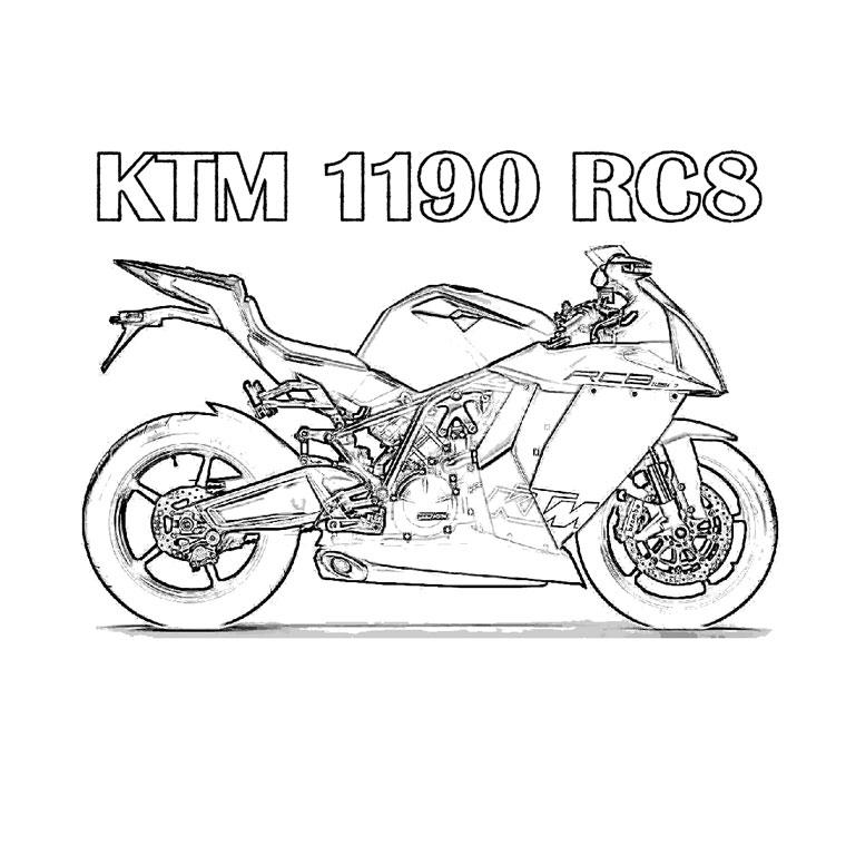 S lection de dessins de coloriage moto imprimer sur page 6 - Dessin de motocross ...