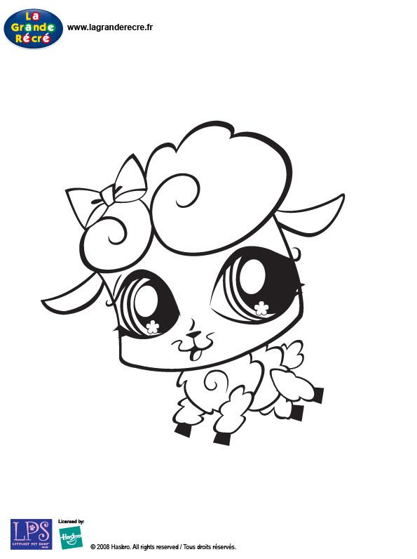 S lection de coloriage mouton imprimer sur - Coloriage de petshop a imprimer gratuit ...