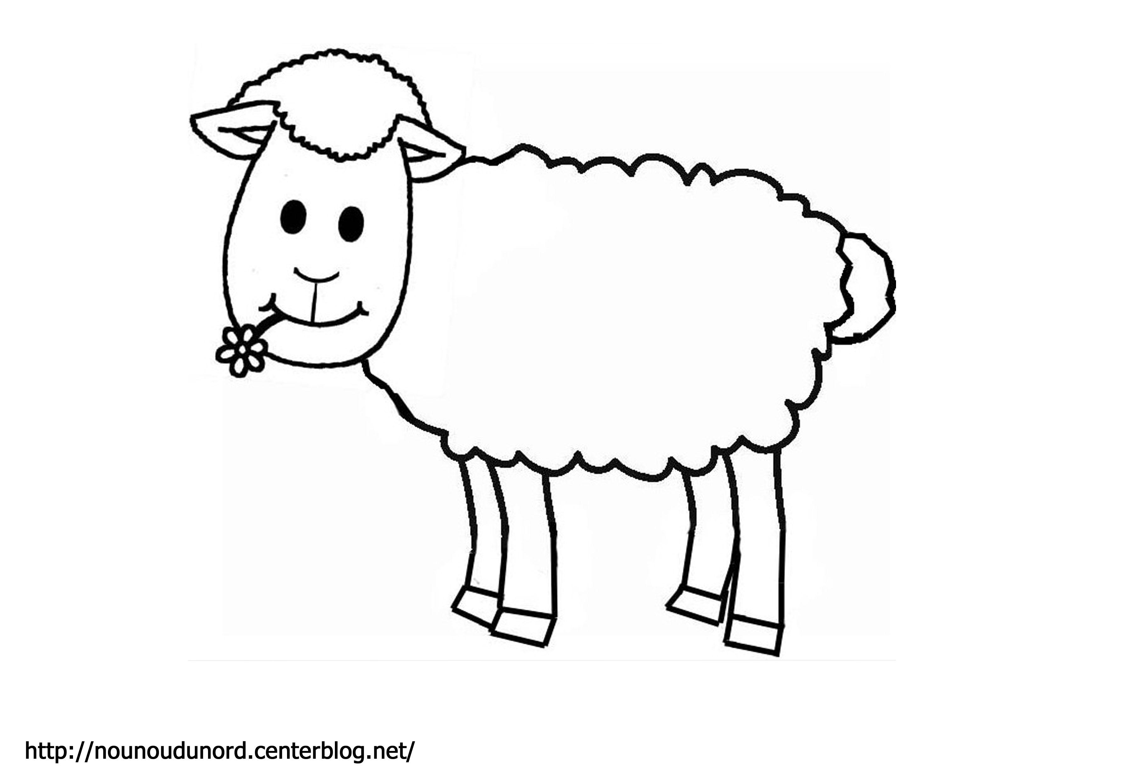 Extrêmement Sélection de coloriage mouton à imprimer sur LaGuerche.com - Page 4 CP04