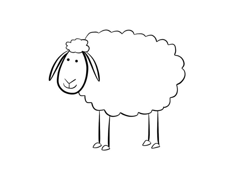 S lection de coloriage mouton imprimer sur - Mouton en dessin ...