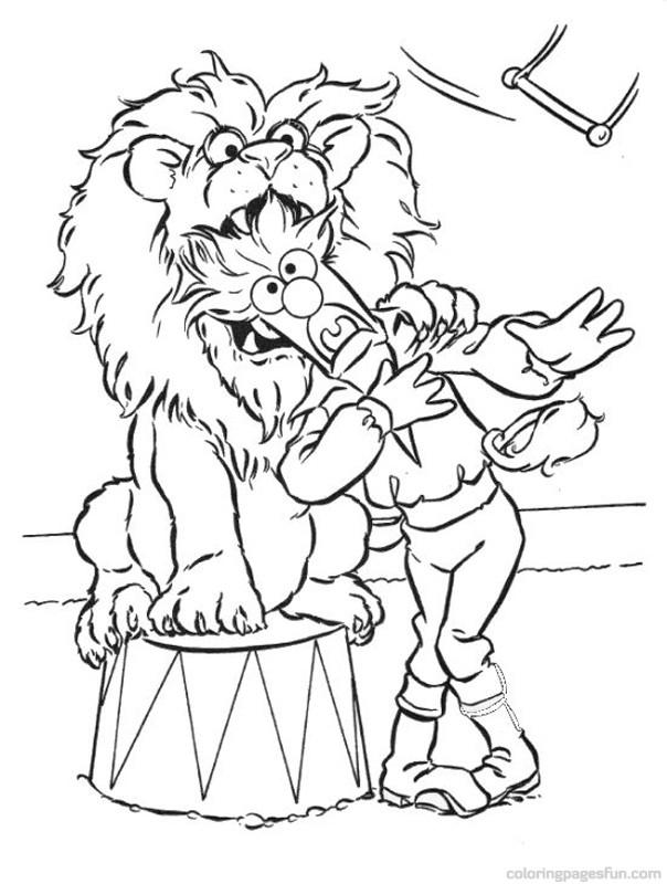 clifford at the circus coloring pages | 132 dessins de coloriage muppets à imprimer sur LaGuerche ...