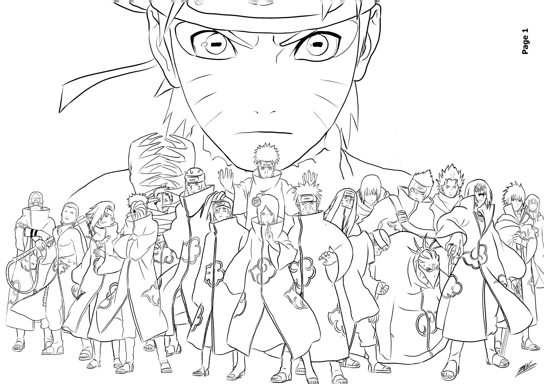 Beau Dessins à Colorier Naruto