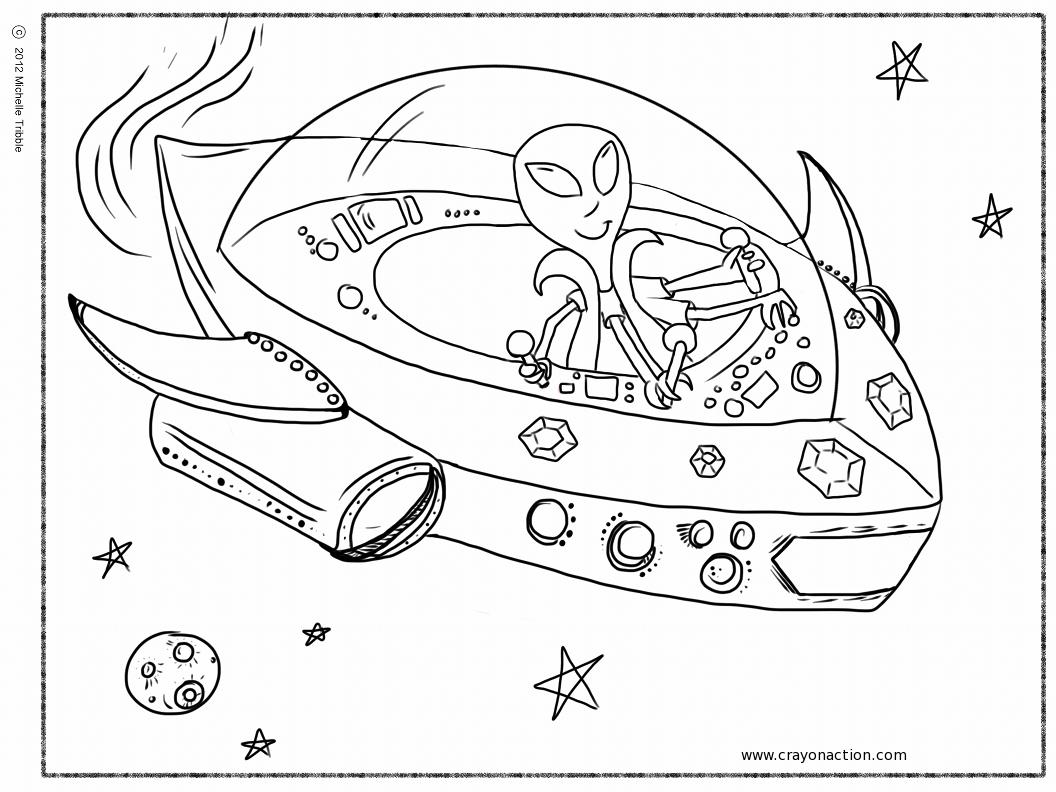25 dessins de coloriage navette spatiale à imprimer sur ...