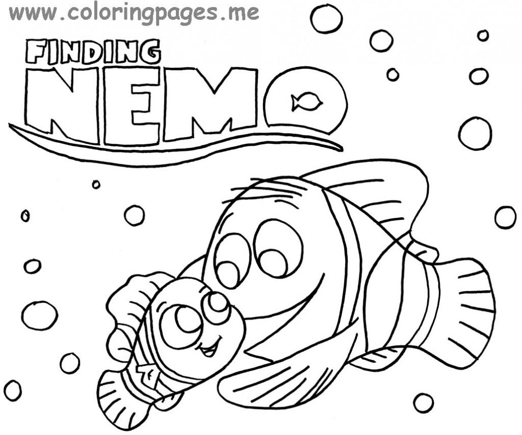 image 25687 coloriage nemo gratuit - Coloriage Nemo