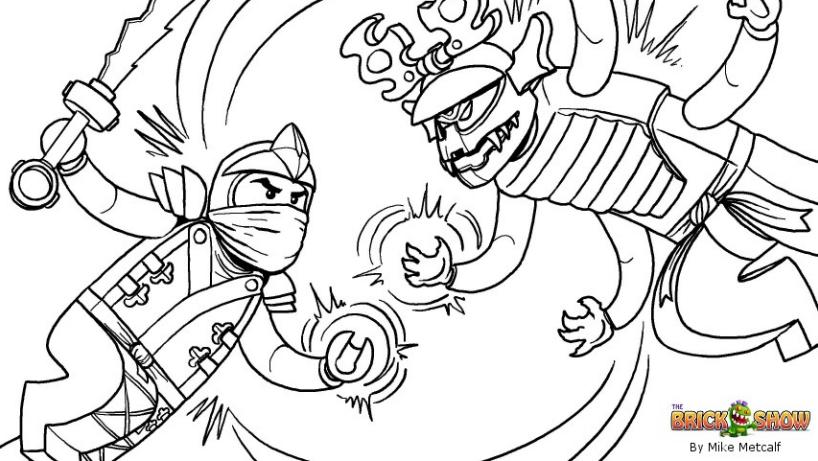 Coloriage ninjago gratuit - dessin a imprimer #122