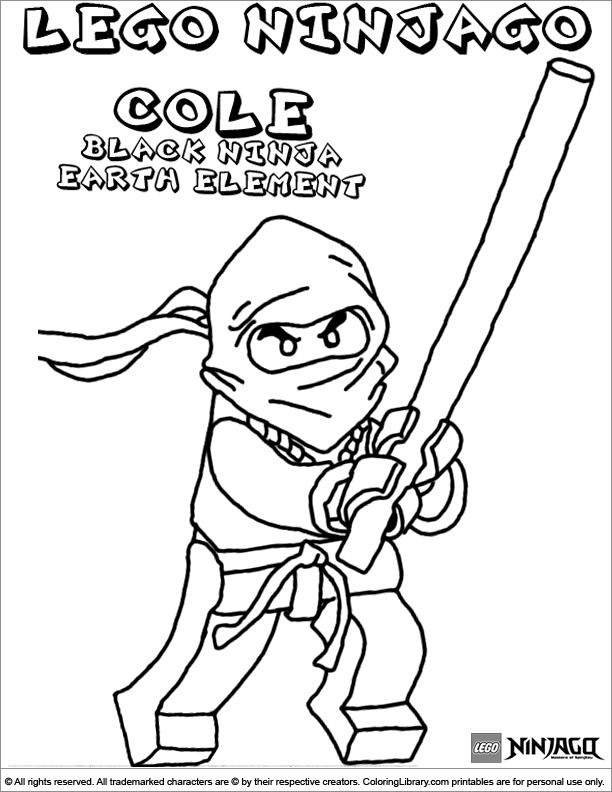 Coloriage ninjago gratuit - dessin a imprimer #174
