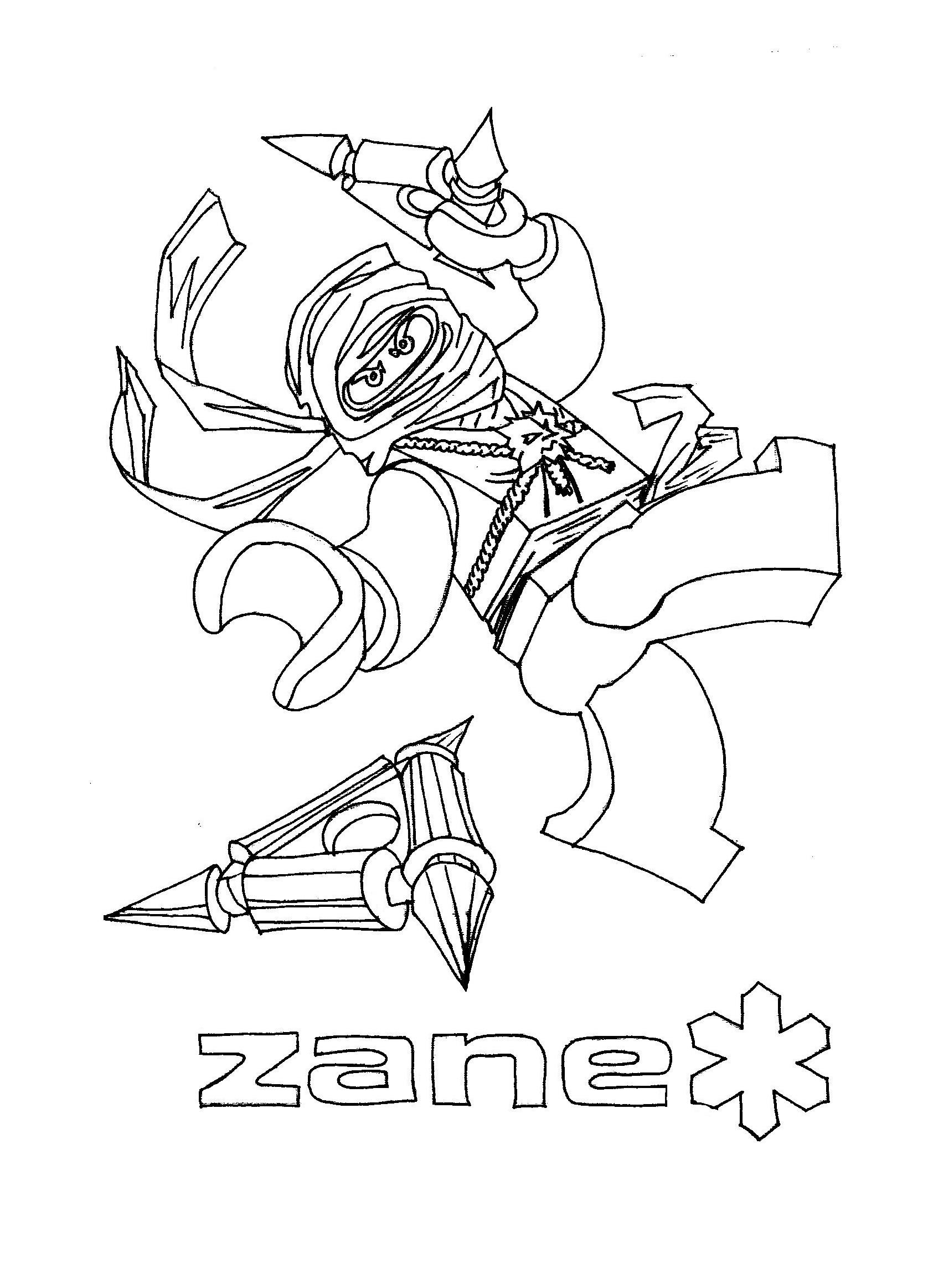 Coloriage ninjago gratuit - dessin a imprimer #19