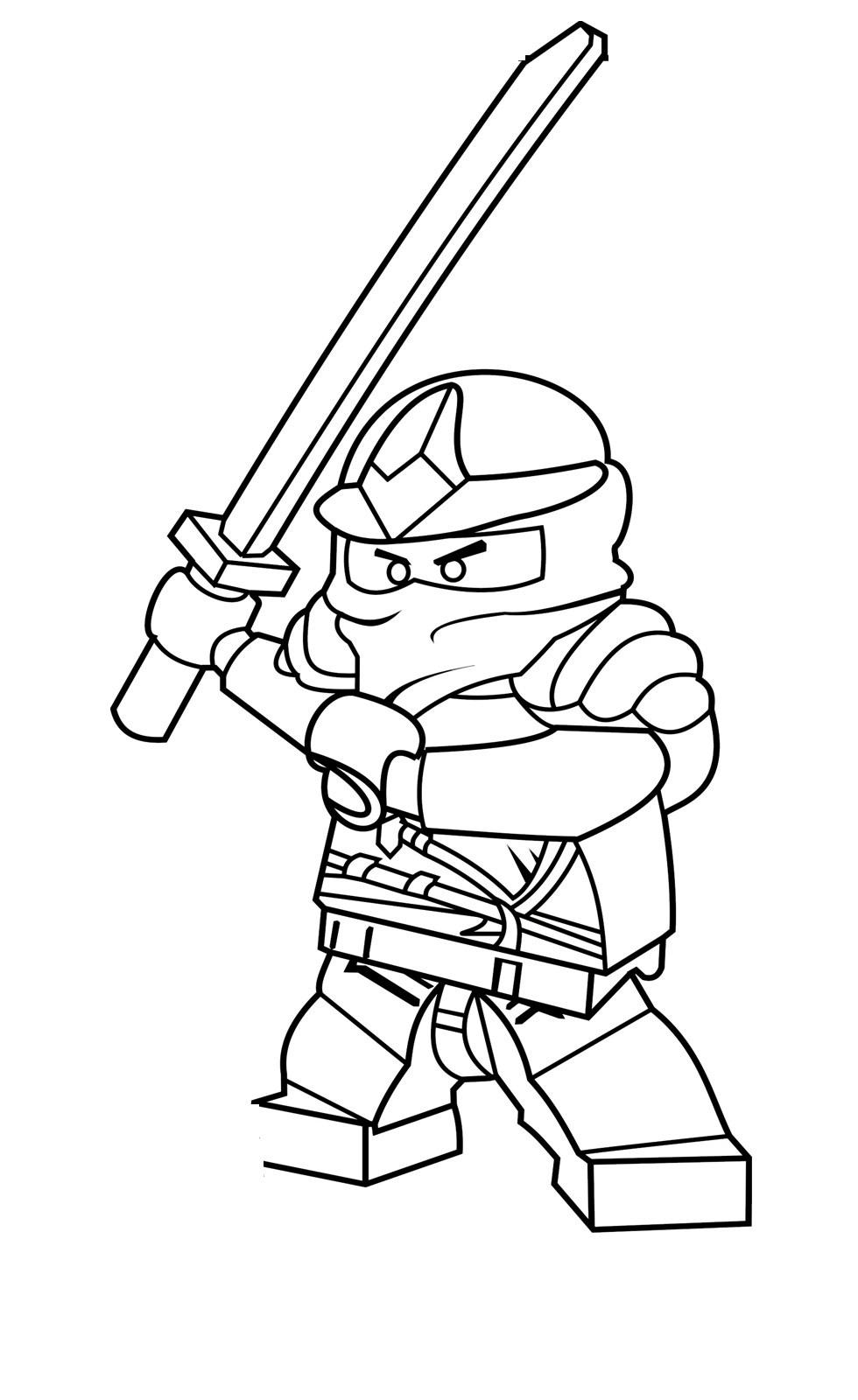 Coloriage ninjago gratuit - dessin a imprimer #22