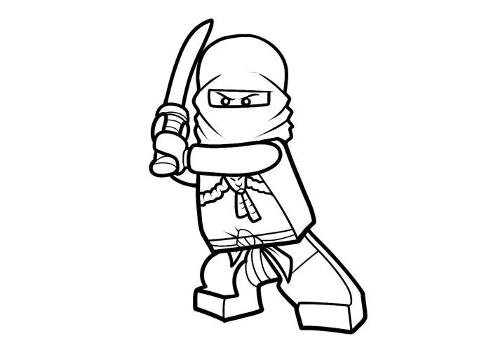 Coloriage ninjago gratuit - dessin a imprimer #23