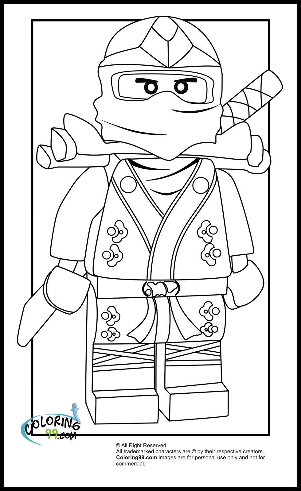 Coloriage ninjago gratuit - dessin a imprimer #24