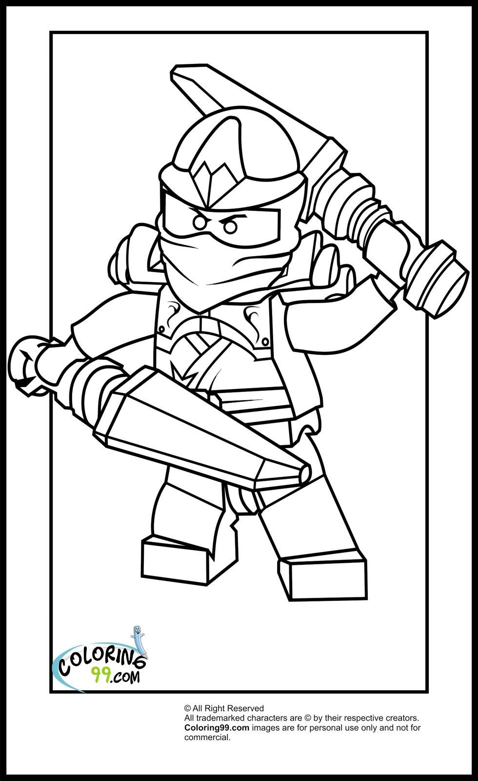 Coloriage ninjago gratuit - dessin a imprimer #7