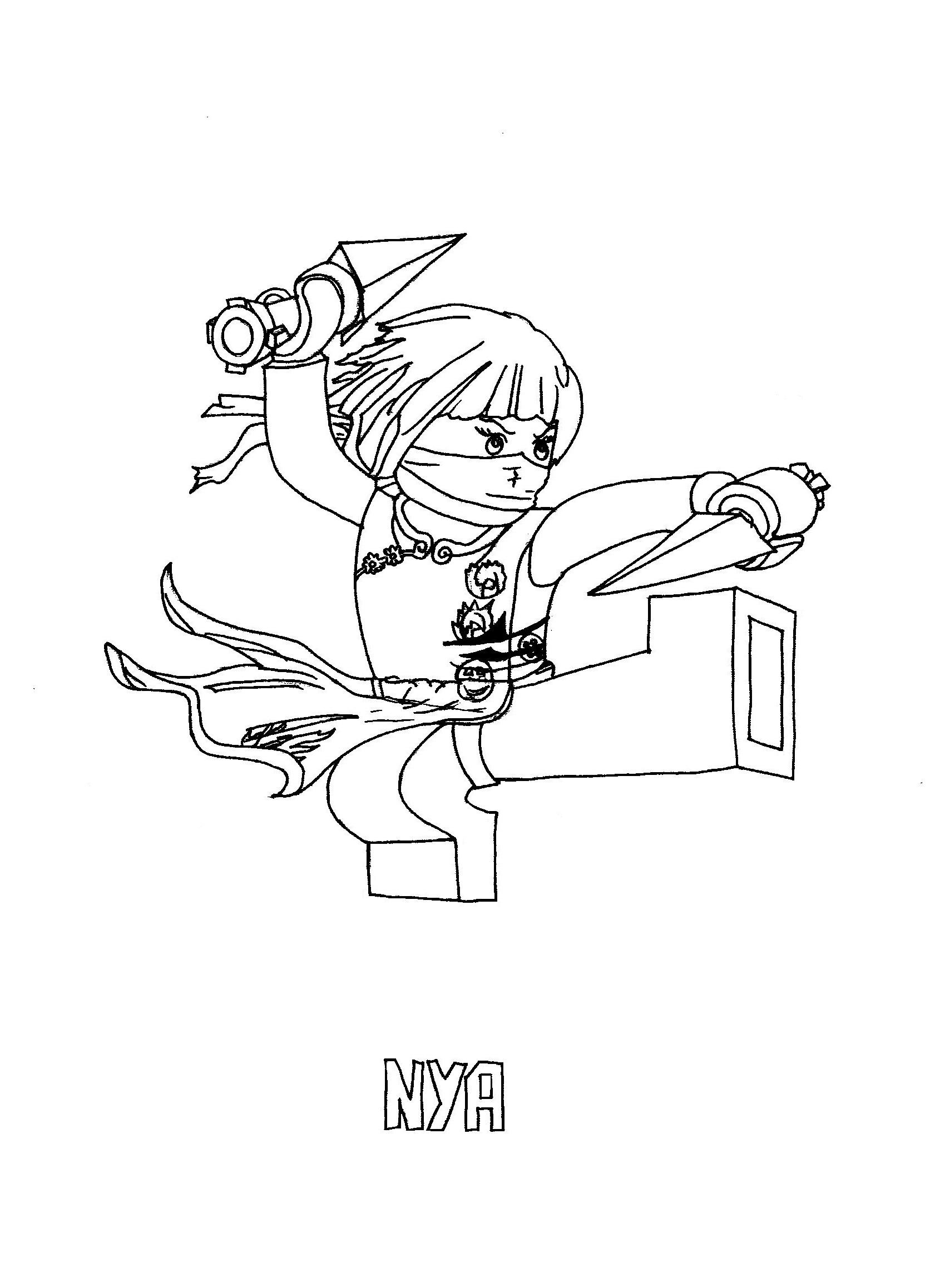 Coloriage ninjago gratuit - dessin a imprimer #76