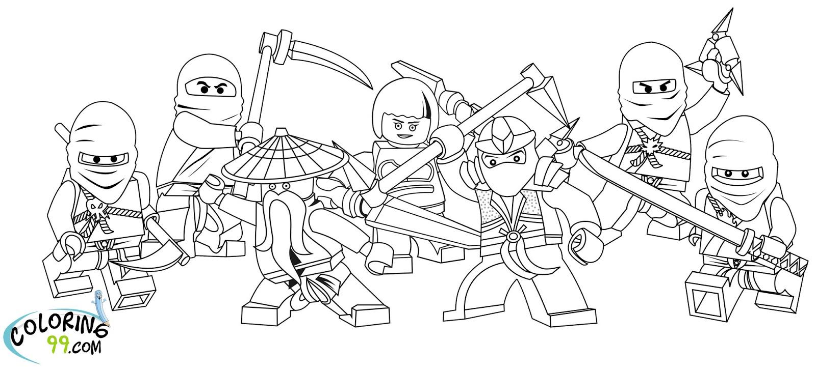 Coloriage ninjago gratuit - dessin a imprimer #81