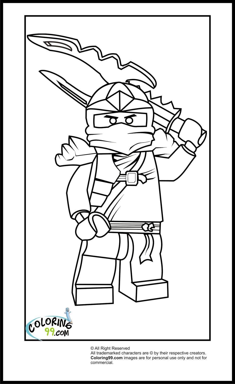 Coloriage ninjago gratuit - dessin a imprimer #87
