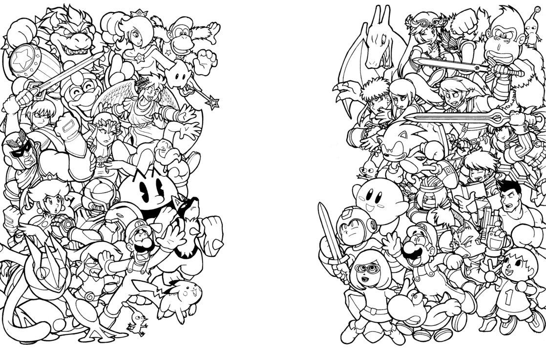 42 dessins de coloriage nintendo imprimer sur laguerche for Nintendo coloring pages