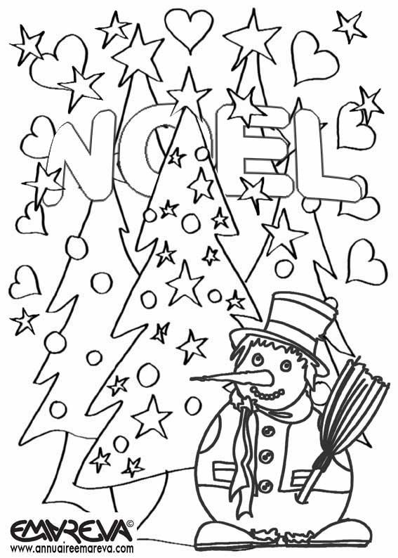 dessin 10583 coloriage noel