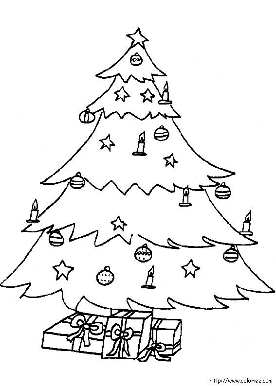 S lection de dessins de coloriage no l imprimer sur for Decoration de noel dessin