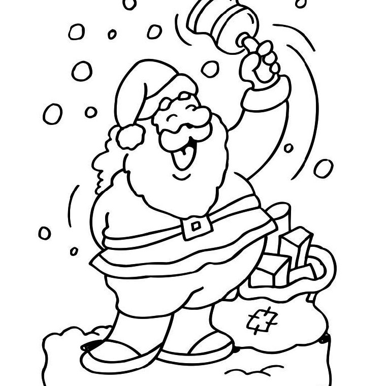 S lection de dessins de coloriage no l imprimer sur - Pere noel facile a dessiner ...
